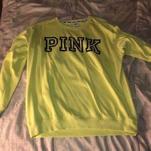 Pink lime green sweatshirt